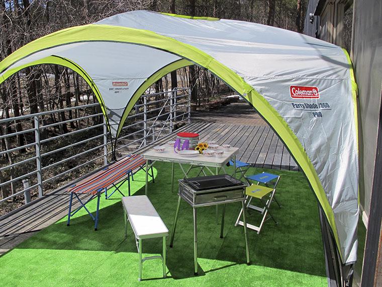 日帰り利用OK!キャンプ用品などもレンタルでき、手ぶらで遊びに行けるのも魅力