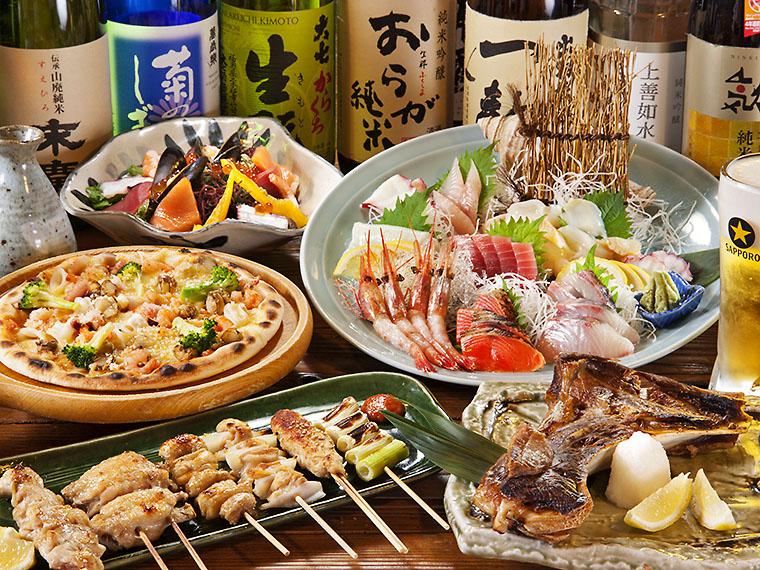 県内外の地酒と旨い肴で楽しい夏の宴会を!