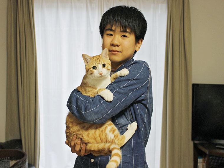 飼い主である佐藤 誠さんの息子・柊(しゅう)くん