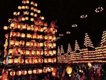 提灯をつけた太鼓台が二本松市内を練り歩く!今年から10月の第一土・日・月曜日開催