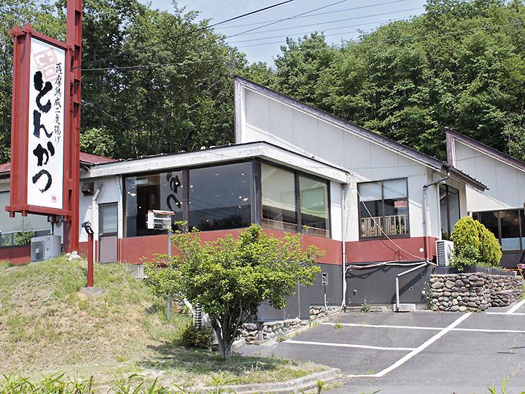 福島市街地から国道4号を南下。松川駅付近を通り過ぎたあたりに『カツ亭』はあります。