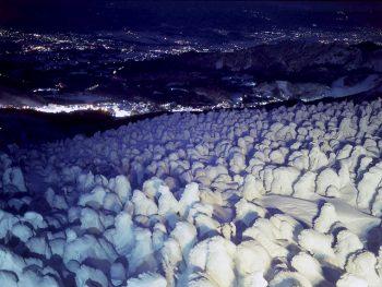 53日間限定!漆黒の闇に浮かび上がる樹氷は必見