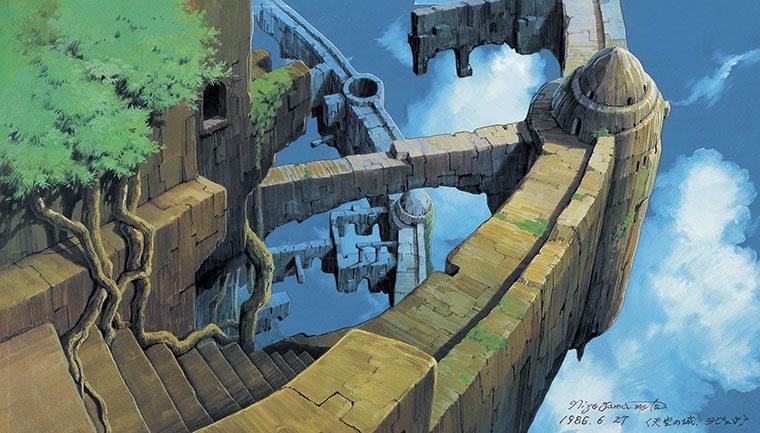 「天空の城ラピュタ《荒廃したラピュタ》 1986年 (c)1986  Studio Ghibli」
