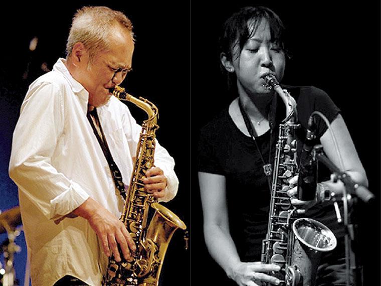 林 栄一(左)、小埜凉子(右)