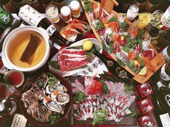 新たに「海鮮しゃぶしゃぶ」が登場!10名以上4,000円以上の宴会で1名無料‼