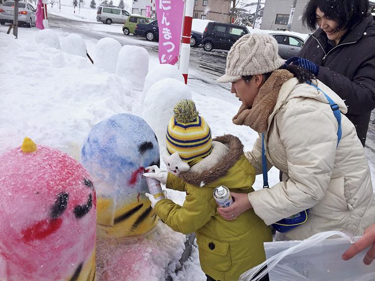 「たかっき・はたっき」の雪像コーナーは2月10日(土)10:00〜15:00、11日(祝)10:00〜12:00