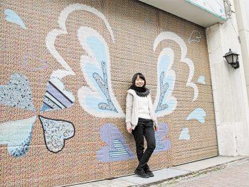 福島県庁通り商店街にマステアート登場!フォトジェニックな街並みを楽しもう