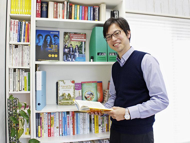 本田賢司先生/英検1級保持、留学経験も持つ。「2020年、英語教育は大きく転換します。将来に向けて、今から始めましょう」