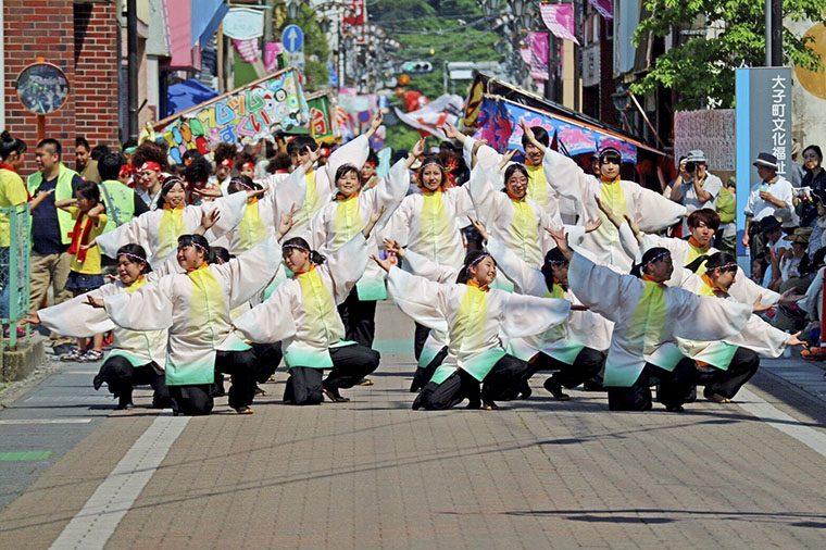 「福島学院大学 YOSAKOIクラブ月下舞流」のメンバー