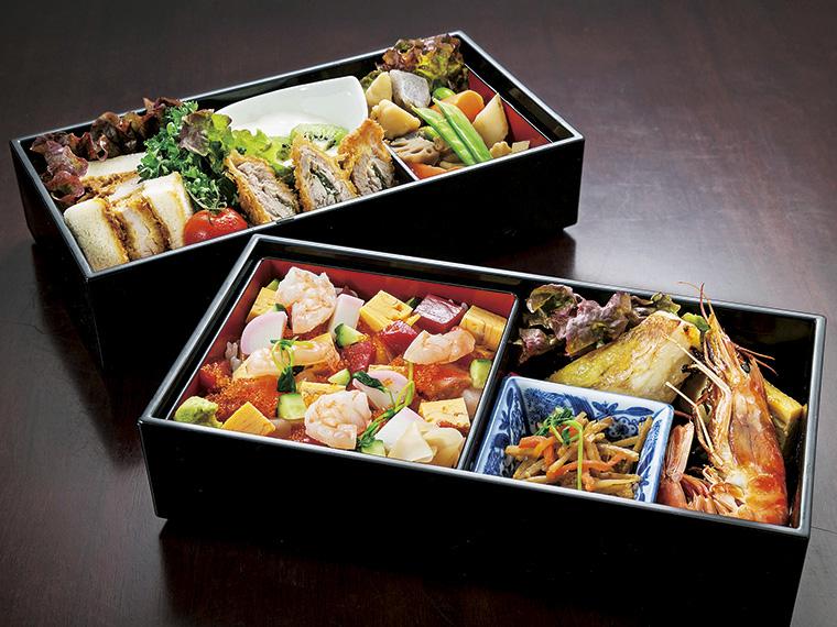コラボプランの料理(一例)。彩り鮮やかなバラちらしに目を奪われる。マグロを漬けにするなど丁寧な仕込みは寿司店ならでは(料理は仕入れ状況によって変更あり)