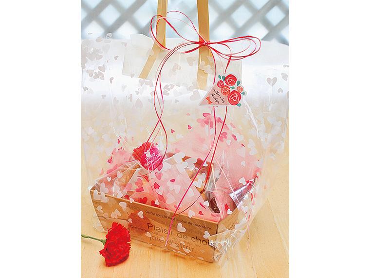 お母さんの好みの焼き菓子を素敵にラッピングしてプレゼント!ラッピングの量やサイズも自由に選べる
