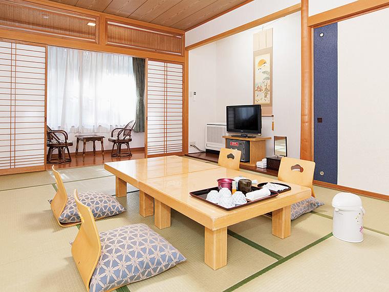 個室付きプランで利用できる12帖の和室。別途、寝具も用意できる(有料)