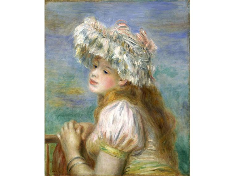 ピエール=オーギュスト・ルノワール「レースの帽子の少女」1891年