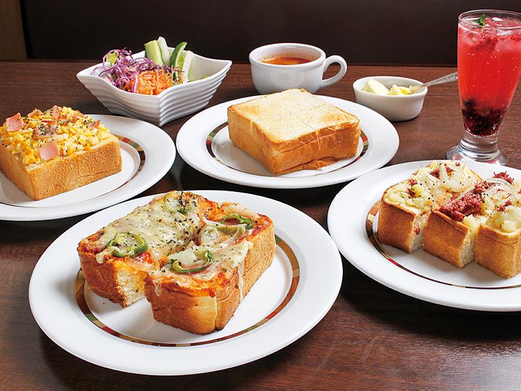 食パンは福島県産玄米を使用!「玉子とハムのトースト」「ピザトースト」「厚切りトースト」「ポテトコンビーフトースト」の4種類から選べる