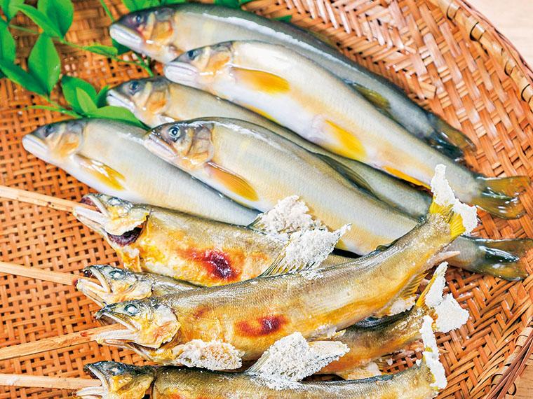 育った環境により味が異なると言われる鮎。中でも久慈川で育った鮎は美味とされる