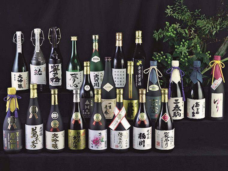 提供される日本酒のイメージ(写真は昨年金賞受賞酒)。9つの蔵元ブースを予定している