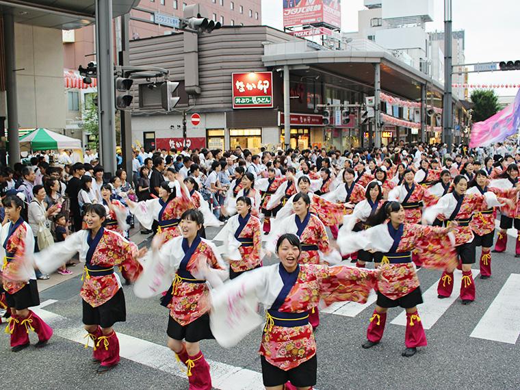 2017年の踊り流し(大賞:開成舞彩)