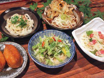 和食処ならではのうどん4種類を一度に楽しめる夏限定メニュー!