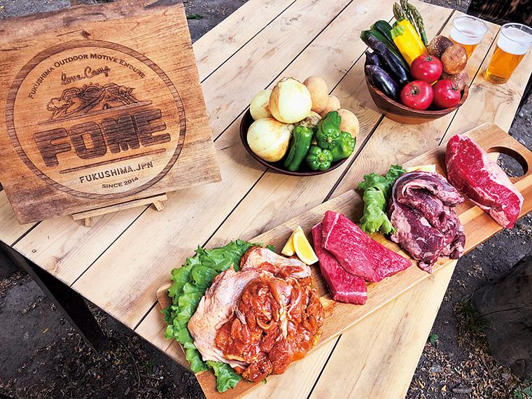 インスタ映えばっちりなBBQメニュー。ボリュームたっぷり、鮮度の高い肉や野菜を味わえる!生ビール(500円)も注文可能!