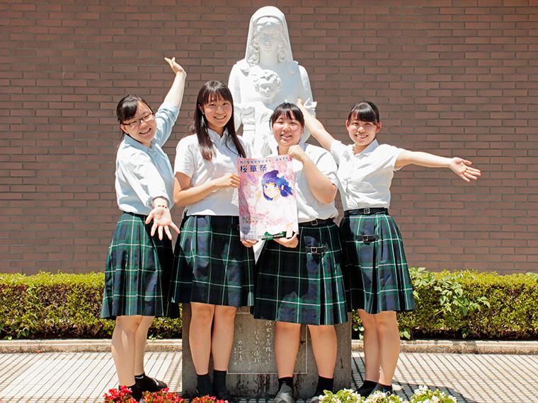桜華祭実行委員長(右から二番目)とゆかいな仲間たち