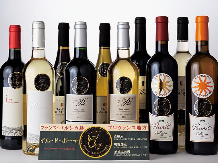 「いつでも食卓でワインを楽しめるように」と1,350円(税別)からのラインアップ。店頭では、テキシドア登代子さんの横顔が入ったシールを目印に購入を