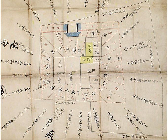 長谷部家の家相図