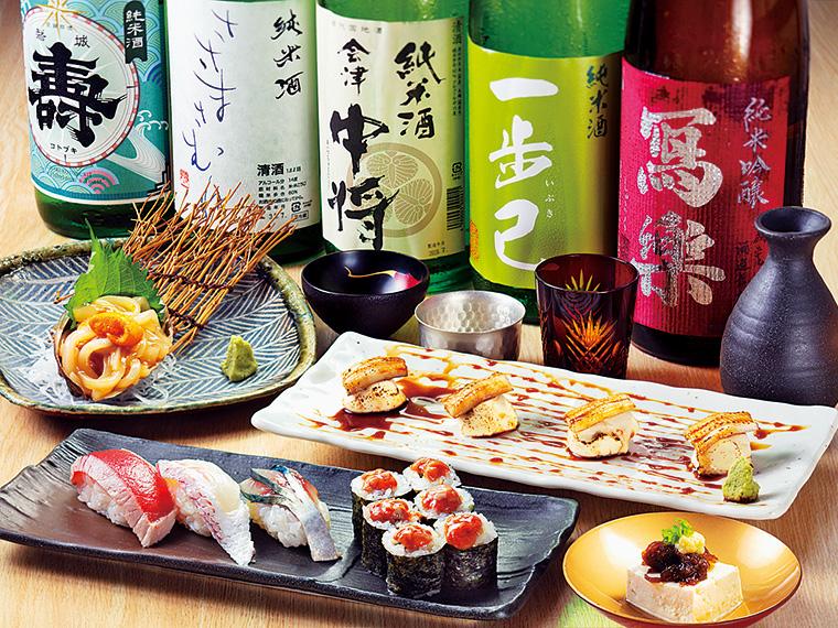福島県のお酒を中心にさまざまな銘柄が揃う