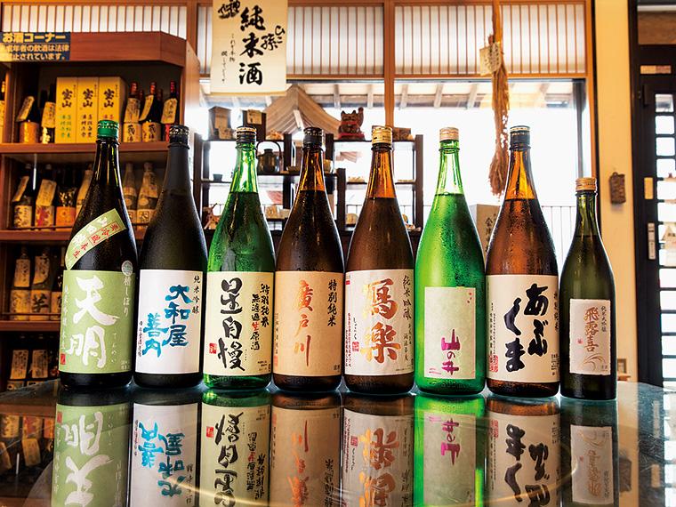 福島県内の銘酒が豊富に揃う