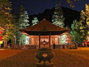 秋の国宝・白水阿弥陀堂を夜間公開。貴重な文化財を観覧しよう