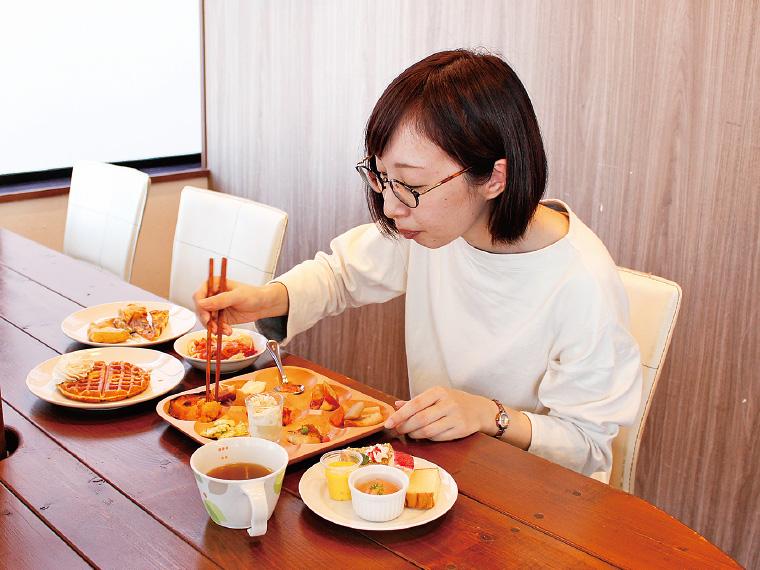 ヘルシーな料理ばかりで、いっぱい食べても罪悪感がない!