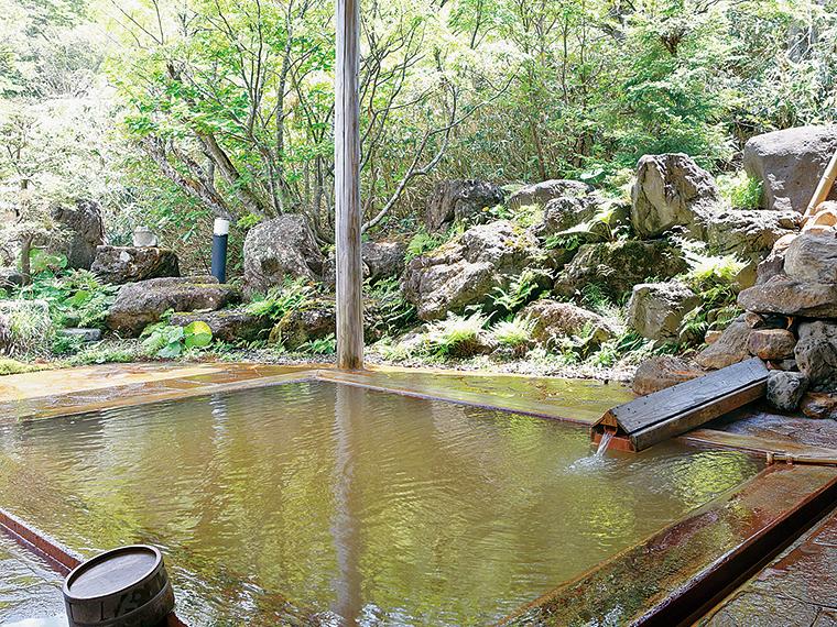 「岩根の湯」の女性用檜風呂