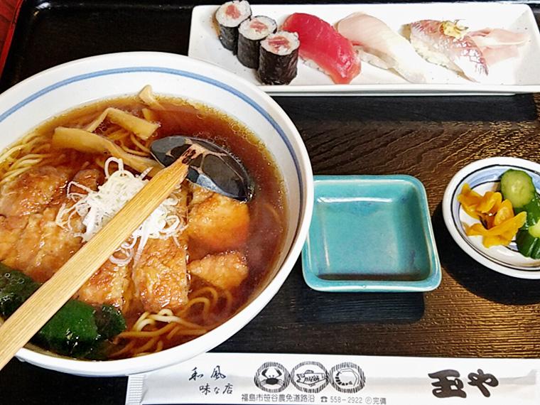 「寿司とやき肉らーめん」(1,200円)