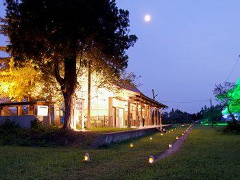喜多方市「日中線記念館」で幻想的なライトアップイベント