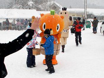 金山町の雪祭りで「かぼまる」に会おう!ステージショーや特産品の販売も