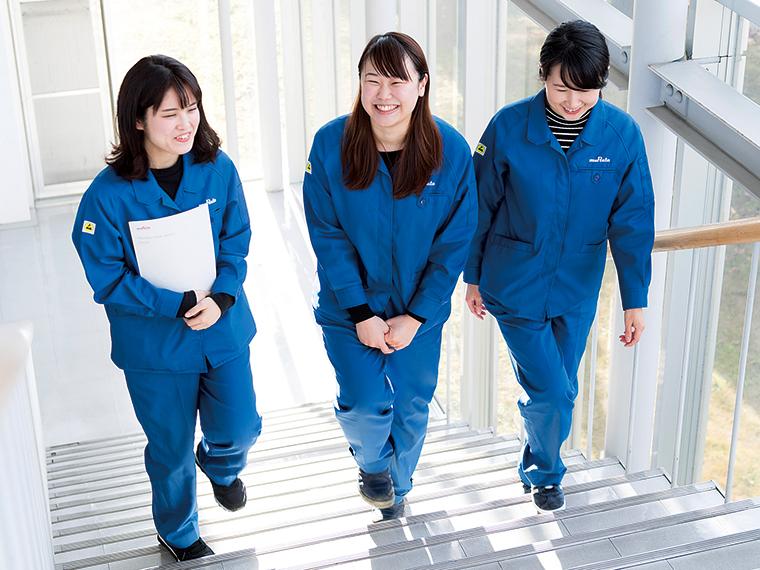 女性が少ない職場だが、男女の壁を感じることもなく上司の理解もある働きやすい職場だ