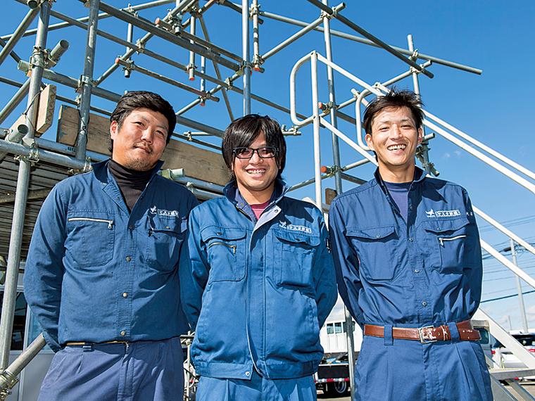 ベテランの先輩たち。左から細川剛志さん、本田竜章さん、大沼功さん
