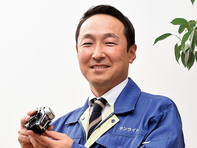 「様々な経験を積んで自身を磨いてほしい」と話す吉田大樹社長