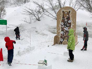 雪を楽しむ「道の駅 月山」でのお祭り。ダム見学や雪玉を当てるゲームも!