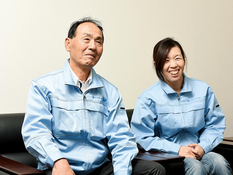 代表取締役の高橋修氏(写真左)。経営管理などのサポートは常務取締役の高橋香保里さん(写真右)が行う