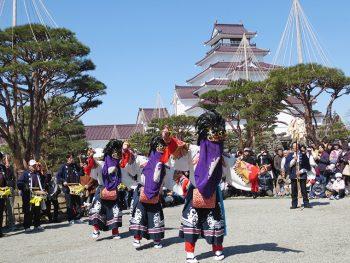 獅子舞が会津に春を運んでくる!