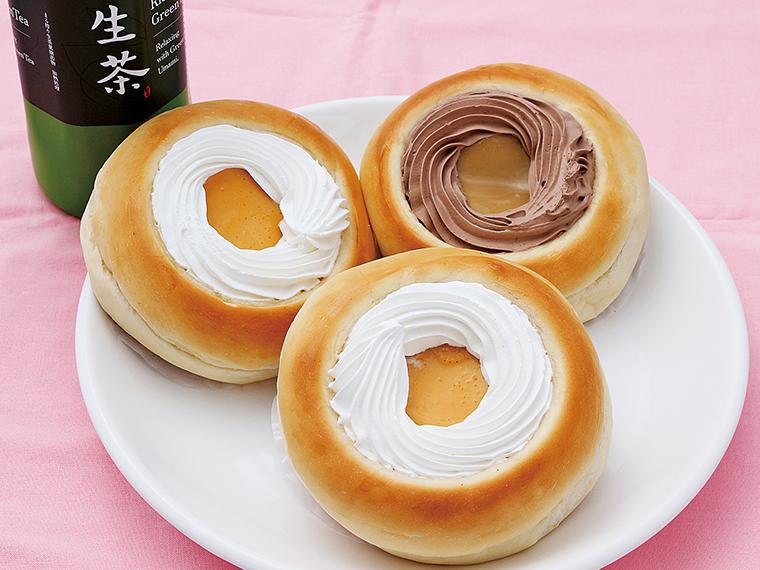 15【光月堂パン店】プリンパンとドリンクのセット(通常700円〜766円)