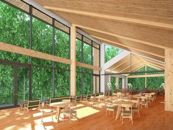 『空の庭』の新チャペルが2019年5月完成予定!カフェもオープン