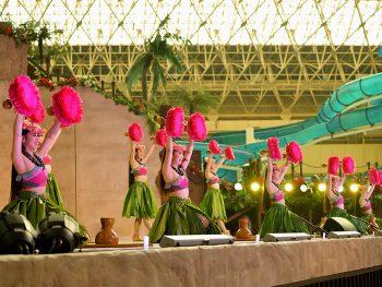 震災を乗り越えたハワイアンズ・フラガールのOG達が、一日限りの復活公演