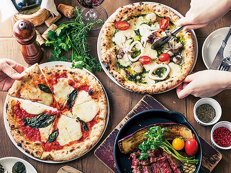 キッズスペース完備の「シチノカフェ」では、ピザやパス タ、パンケーキなどがリーズナブルに味わえる