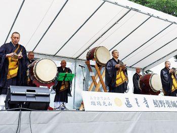 初夏恒例「医王寺」のお祭りへ、「芭蕉俳句大会」も同時開催