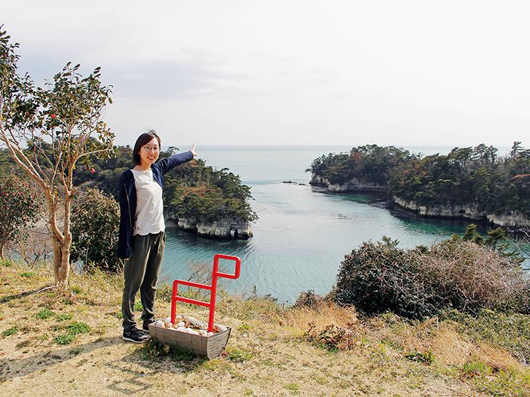 稲ヶ崎公園から、晴れた日には福島県相馬市が見える!!