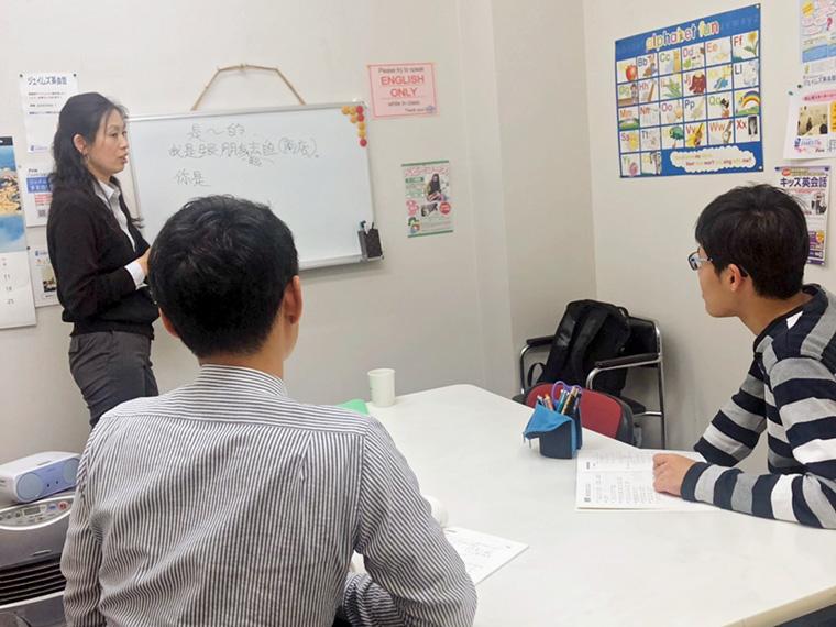 中国語の授業風景。ネイティヴ講師による実践的なレッスン