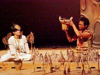 福島市の縄文遺跡「じょーもぴあ宮畑」で野外演劇を上演