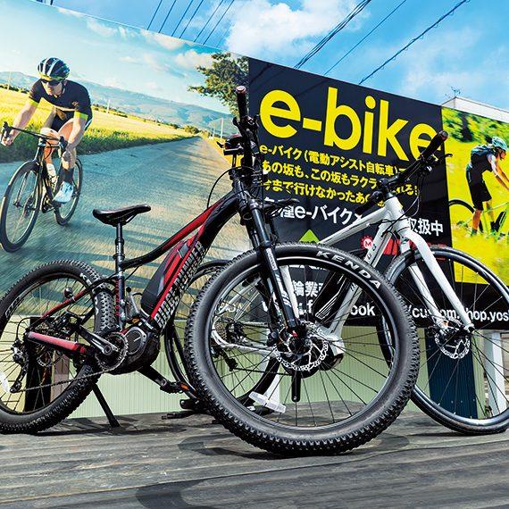 初めてスポーツ自転車に乗る方におすすめなのが「e-bike(スポーツ電動アシスト自転車)」。「miyata E-BIKE RIDGE-RUNNER(左)」(398,520円)、「miyata E-BIKE CRUISE(右)」(290,520円)