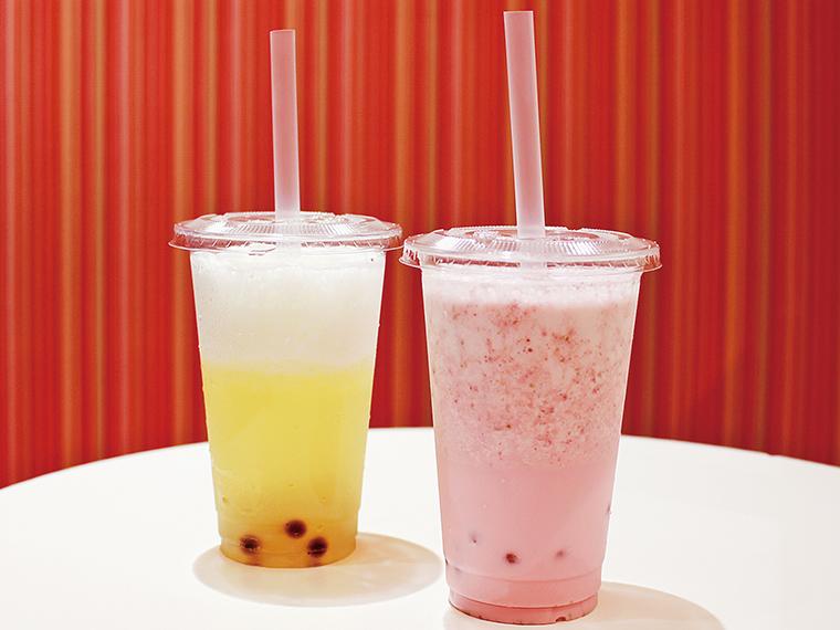 左から「ふくしま林檎100」「苺」(各529円)。福島県産リンゴ「さんふじ」を100%使用。つぶつぶ食感が楽しい「苺」もおすすめ